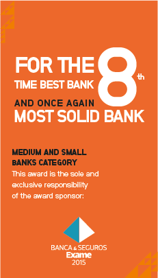For the 8th time Best Bank and once again Most Solid Bank in Medium and Small Banks Category